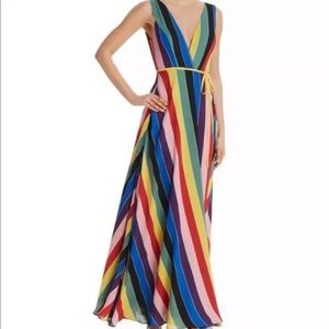 Aqua - Rainbow Stripe Maci Wrap Dress